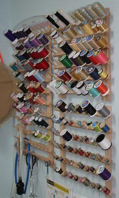 These #thread racks work well for regular spools & bobbins.