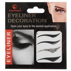 I found 'Black Temporary Eye Tattoo Transfer Eyeshadow Eyeliner Stickers' on Wish, check it out!