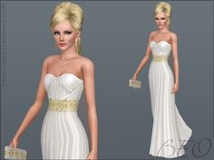 Sims 3 long dress liners