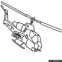 AH 1 Super Cobra Helicopter Online Coloring Page