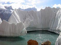 A lake on Gasherbrum glacier, Kashi(Kaxgar), Xinjiang Uygur, China by www.turclubmai.ru