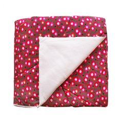 Plaid grand 1 pers.140x200 Coquelicot rouge - Petit Pan - vivre en multicolore