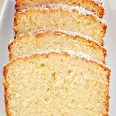 Moist Coconut Pound Loaf Cake