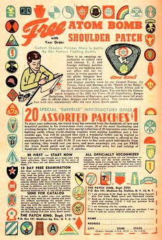 I remember drop drills in school. I would have loved these patches as a kid. Wish I had them now.