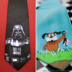 These ties almost make me want to wear ties.