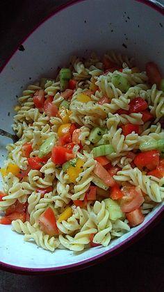 Bunter Nudelsalat ohne Mayonnaise 2