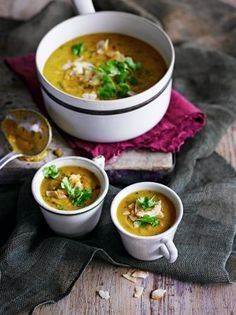 Red lentil, sweet potato & coconut soup