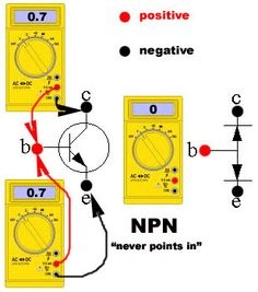 Transistor Tester Using a #Digital Multimeter #Electronics #Electrical