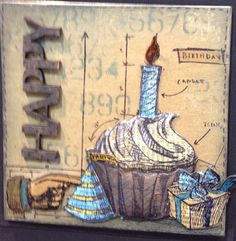 Scrapbook Territory: Tim holtz new stamps in - Birthday Blueprints