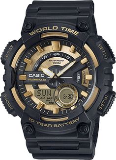 Casio AEQ110BW-9AV   Youth Series   Youth Combination   Sporty Analog-Digital   Mens Timepieces