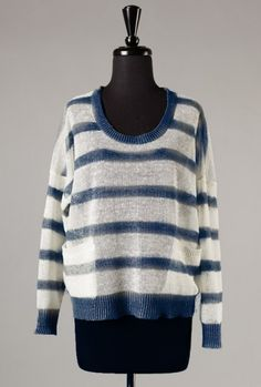 Sincerely Sweet Sweater - Between the Lines Lightweight Navy Stripe Knit Sweater