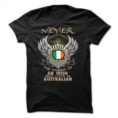 Never Underestimate AN IRISH Who Lives In AUSTRALIAN - #funny shirt #zip hoodie. SIMILAR ITEMS => www.sunfrog.com/...