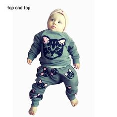 Cute Cat 2-Pc Set  #clothes #boy #girl #baby #fashion #babysets #subcribe #trendykids #cutie #shopping