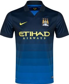 New Manchester City Away Jersey Shirt Kit 2014 2015   Have a Fun Flag Wig ! a11ecda4c