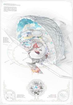 AA School of Architecture 2015 - Yah-chuen-shen Architecture Graphics, Architecture Drawings, Architecture Portfolio, Concept Architecture, Architecture Design, Architecture Student, St Just, Concept Diagram, Design Graphique