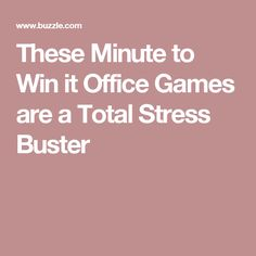 These Minute to Win it Office Games are a Total Stress Buster