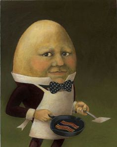 Uncle Omelette  Anthropomorphic Egg Man by CuriousPortraits