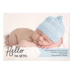 Chic Introduction Birth Announcement - Blue. Imagenes Para BebeSesion ... bac2e0c9a33