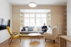 A Family Apartment in Prague That's Filled With Clever Storage Solutions and Built-In Nooks - Photo 1 of 13 - Dwell
