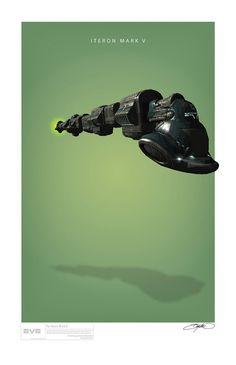 Spaceship Posters by Rixx Javix | Inspiration Grid | Design Inspiration