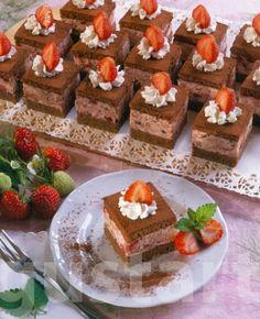 Lajos Mari konyhája - Csokoládés- epres kocka