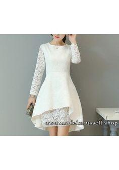 Elegantes Vokuhila Kleid Abendkleid Tulla in Weiß