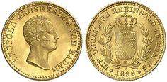 Germany (Grosherzogtum Baden) AV Rheingold Dukat 1836 Karl Leopold Friedrich I 1830-52