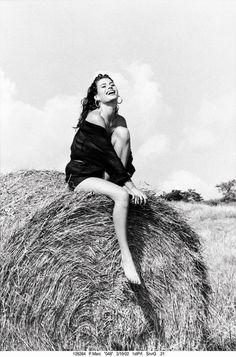 Campagne Guess 1988 avec Carré Otis photographiée par Ellen Von Unwerth en Italie