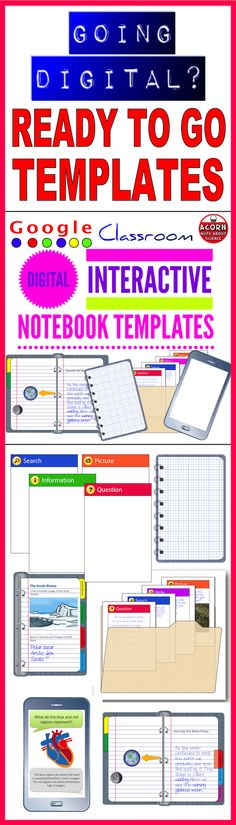 Ready to go digital? Save time using these templates to create visually stunning lessons. 75 pages of digital interactive notebook templates including tabbed organizers, folders and mobile phones. The files are in powerpoint format and come as a zipped file.