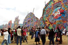 Guatemala - In October, as a way to celebrate the Latin American holiday Dia de Los Muertos, the people of Sampango, Guatemala, build giant kites to honor their dead relatives. Photo by Antonio Lederer, via Creative Commons.