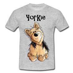 Camiseta con un gracioso dibujo de perro Yorkshire Terrier. Puedes editar  el tamaño del dibujo 5be3a2533e25f