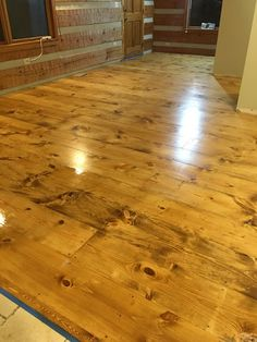 How to DIY finish wide plank pine floors using water based Bona system, Bona Amberseal, Bona Mega. Pine Wood Flooring, Diy Wood Floors, Rustic Wood Floors, Clean Hardwood Floors, Real Wood Floors, Wood Laminate Flooring, Pine Floors, Diy Flooring, Wood Planks