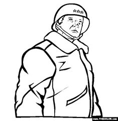 george s patton coloring page free patton online