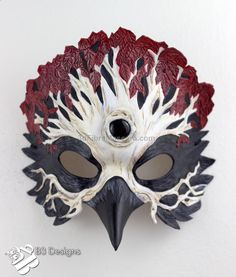 Cool Game of Thrones Inspired Three Eyed Raven Weirwood Tree Leather Mask by B3leatherdesigns available in stocks here