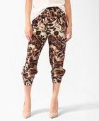 Product Name:Cropped Animal Print Pants, Category:BOTTOMS, Price:17.80