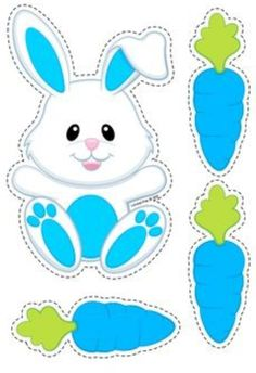 Pets Preschool and Kindergarten Centers. Match the colored carrots to the correct bunny. Easter Projects, Easter Crafts For Kids, Easter Decor, Easter Activities, Preschool Activities, Diy And Crafts, Paper Crafts, Preschool Centers, Easter Printables