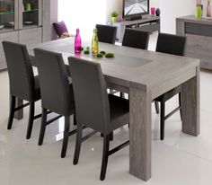 Extending Grey Oak And Glass Dining Table