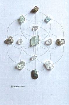 INNER PEACE & GUDIANCE framed crystal grid by CrystalGrids