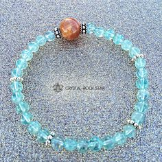 This crystal weight-loss support bracelet boosts metabolism and suppresses appetite. Blue apatite is a fav crystal for those looking to lose weight. Sunstone increases metabolism and keeps you optimistic towards meeting your goals. www.crystalrockstar.etsy.com