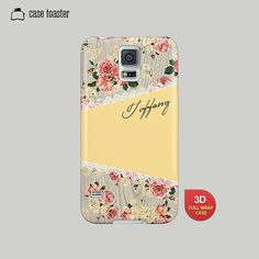 Girly floral Galaxy S5 case. Also available for: Galaxy S4, Galaxy S3, Galaxy Note 2, Galaxy Note 3    We are making your case by using 3D