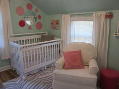 Robin's Nest from Benjamin Moore    could work for both kids' rooms depending on accent colors.