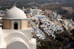 """Overlooking the Beauty"" in Santorini, Greece. Photo taken by Christie Gleason '14 during the #cordmn summer school in Santorini. #travel"