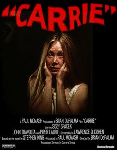 Fun movie drinking game for Carrie. Halloween Horror Movies, Best Horror Movies, Classic Horror Movies, Horror Movie Posters, Cinema Posters, Scary Movies, Old Movies, Vintage Movies, Carrie Stephen King