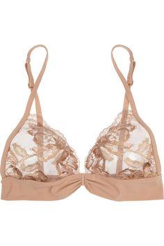 La Perla|LP Style lace and stretch-jersey soft-cup bra|NET-A-PORTER.COM
