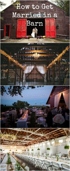 Rustic Country Weddings Great tips on barn weddings! - We think that barns make great wedding venues because they're a blank canvas for creative couples. Read on to discover how to get married in a barn. Farm Wedding, Wedding Tips, Trendy Wedding, Perfect Wedding, Rustic Wedding, Wedding Venues, Wedding Planning, Dream Wedding, Cowgirl Wedding