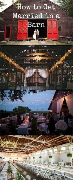 Great tips on barn weddings!