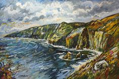Painting of Slieve League on the Wild Atlantic Way by Ardara artist Stephen Bennett