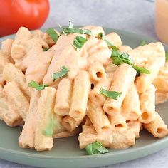 With 9 grams of protein per serving, this Creamy Tomato Basil Vegan Pasta will blow your mind! It's made with a vegan creamy cashew pasta sauce, roasted veggies, and fresh basil. This vegan pasta reci Vegan Foods, Vegan Vegetarian, Vegetarian Recipes, Meatless Pasta Recipes, Healthy Recipe Videos, Healthy Recipes, Healthy Meals, Vegan Recipes Videos, Dinner Healthy
