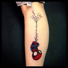 Superhero Tattoos - Spiderman & web | #inked