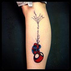 Superhero Tattoos - Spiderman & web | #inked